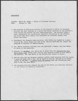 Memo regarding White's appointment to Office of Volunteer Services, January 6, 1984