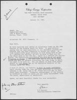 Letter from E.G. Durrett to William P. Clements, Jr., January 20, 1984