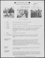Fact Sheet of 1976 Bicentennial Tree Plant: Clements Scout Reservation, January 2, 1976