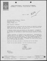 Letter from William C. Gamble to William P. Clements regarding the Silver Buffalo Award, June 5, 1980