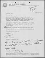 Letter from Cecil Mills to William P. Clements regarding Eagle Day, March 10, 1981