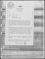 Memo from Pat Oles to file regarding Everett Lord, 279th District Judge, April 17, 1981