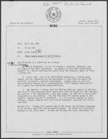 Memo from Linda Howell to TA and JBF regarding 309th Family Court in Harris County, April 29, 1980