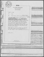 Memo from Tobin Armstrong to File regarding Frank Evans, Chief Justice, Harris County, 1st Court of Civil Appeals, June 11, 1981