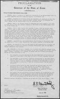 Proclamation issued by Governor William P. Clements, July 27, 1981, regarding the shipment of produce from California