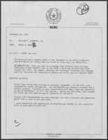 Memo from David A. Dean to William P. Clements, Jr., September 20, 1979