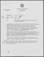 Memo from David A. Dean to Governor William P. Clements, Jr., regarding Texas Organized Crime Prevention Council resolution on electronics surveillance, March 15, 1979