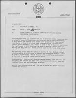Memo from David A. Dean to Governor William P. Clements, Jr., regarding establishment of a special committee of the National Governor's Association on Outer Continental Shelf Leasing, July 23, 1981