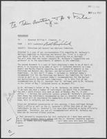 Memo from Bill Lauderback to William P. Clements regarding Petroleum and Natural Gas Advisory Committee, May 12, 1980