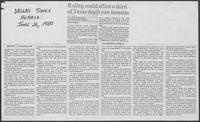 "Newspaper clipping headlined ""Ruling could affect a third of Texas death row inmates,"" June 26, 1980"