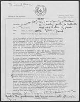 Memo from Johnny R. McCollum to Ruben Torres, regarding population of Texas Department of Corrections, September 23, 1981