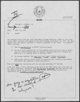 Memo from David A. Dean to William P. Clements regarding Brother Roloff, April 23, 1979