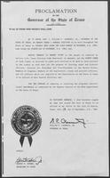 Proclamation by the Governor of the State of Texas: General Election for the purpose of Adopting or Rejecting Proposed Constitutional Amendments, September 12, 1980