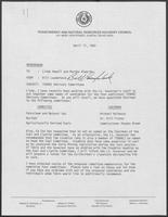 "Memorandum from Bill Lauderback to Linda Howell and Martha Alworth titled ""TENRAC Advisory Committees,"" April 17, 1980"