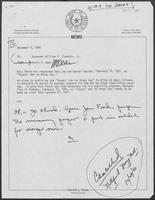 Memo from David A. Dean to William P. Clements Jr., December 5, 1980