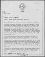 Memo from David A. Dean to William P. Clements, Jr., June 27, 1980