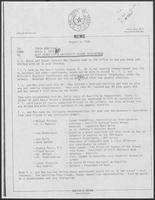 Memo from David A. Dean to Tobin Armstrong, regarding West Texas University Regent Appointment, August 9, 1979
