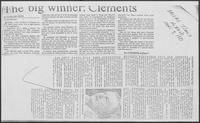 """The big winner: Clements"", Dallas Times Herald, June 7, 1981"
