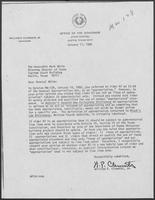 Letter from William P. Clements to Attorney General Mark White, regarding findings in Opinion MW-128, 17 January 1980