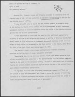 Press Release regarding S.B. 132 authorizing emergency appropriations for the Attorney General's Office, April 4, 1979