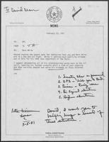 Memo from Tobin Armstrong to William P. Clements regarding Mark White, February 23, 1981