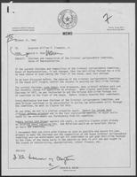 Memo from David Dean to Governor William P. Clements, Jr., regarding chairman and composition of the Criminal Jurisprudence Committee, October 31, 1980.