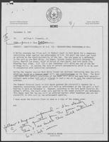 Memo from David Dean to William P. Clements regarding constitutionality of H.B. 733, September 4, 1981