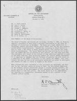 Letter from William P. Clements, Jr., to the members of the Texas Board of Corrections, October 4, 1982