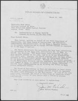 Letter from James Windham to Mark White, March 14, 1981
