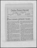 "Newspaper clipping headlined ""Plan eases prison woes"", May 9, 1981"