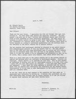 Letter from William P. Clements Jr. from Richard Herrin, April 8, 1980