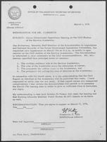 Memo from Assistant Secretary of Defense Frederick P. Hitz to William P. Clements, March 1, 1976