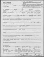 Appointment form from Mary Williams to the Office of Governor William P. Clements, Jr., March 9, 1987