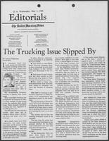 "Newspaper clipping headlined, ""The Trucking Issue Slipped By,"" May 7, 1986"