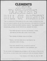 "Political advertisement titled ""Taxpayers bill of rights"""