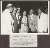 Photo of William P. Clements, Jr., and others at the Border Governors Conference, June 21, 1979