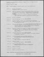 Program to be followed during Governor Clements' visit to Ciudad Victoria, Tamaulipas, Mexico, August 14, 1979