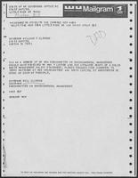 Mailgram from Governor Bill Clinton  to Governor William P. Clements, Jr., May 30, 1979