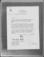 Letter from Senator Bob Dole to Governor William P. Clements, Jr., April 30, 1979