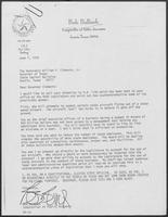 Letter from Bob Bullock to William P. Clements, Jr., June 7, 1979