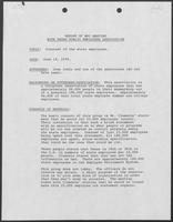 Report regarding William P. Clements, Jr.'s meeting with the Texas Public Employees Association, June 14, 1978
