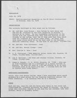 Memo from Dary Stone to staff regarding Mexican-American reception in Houston, Texas, July 16, 1978