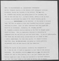Memorandum from Bill Keener to Nola Haerle regarding Instant Press Conferences, undated