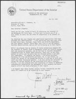 Letter from U.S. Secretary of Interior James Watt to Governor William P. Clements, Jr., September 16, 1980