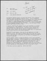 Memo from B.D. Daniel to Dary Stone and Mary Jane Maddox regarding state employee reduction, March 23, 1982