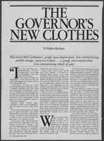 "Magazine Clipping ""The Governor's New Clothes,"" May, 1981"