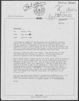 Memo from Dary Stone to David A. Dean regarding Paul Wrotenbery and position papers, April 18, 1980