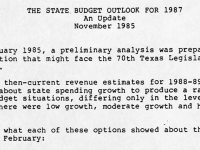 Budget Battle of 1987