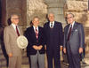 Governor Clements former Texas governors Preston Smith, John Connally, and Allan Shivers. Photo courtesy of Texas State Library and Archives Commission