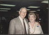William P. Clements with Estella Allen at phone center in Beaumont, ca. 1986. [e_cle_000052]